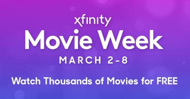 Xfinity Free Movie Week