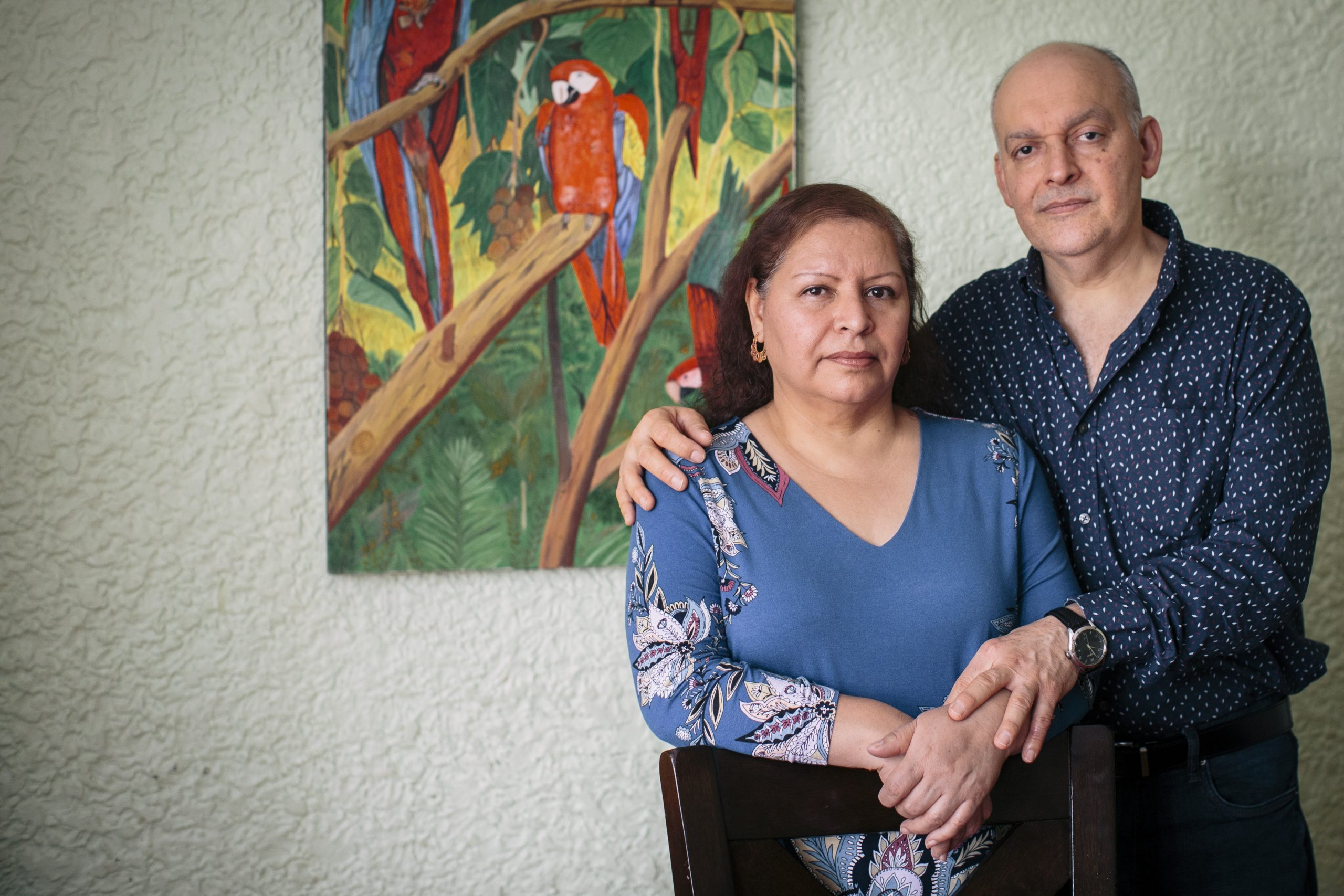Lourdes and Miguel Lopez in their home