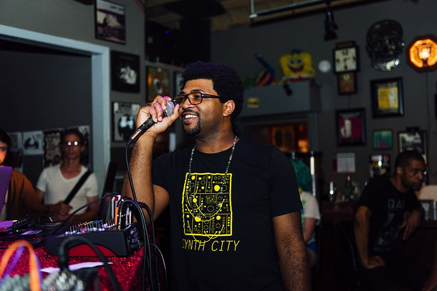 Open Beats founder and cohost Fess Grandiose introduces a beat maker.