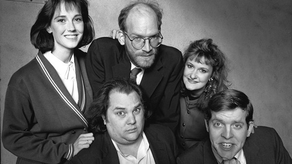 Jill Talley, Mark Beltzman, Ron West, Ruth Rudnick, and Michael McCarthy in 1990's <i>Ameri-Go-Round</i>.