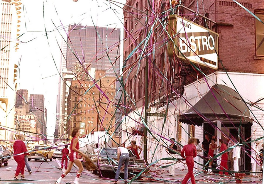 Dugan's Bistro decked out for its sixth anniversary party in 1979