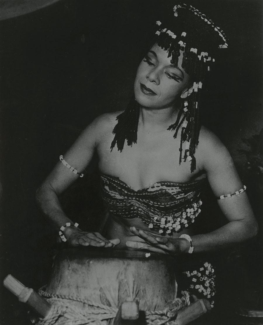 Katherine Dunham in <i>L'Afrique</i>, ca. 1949.