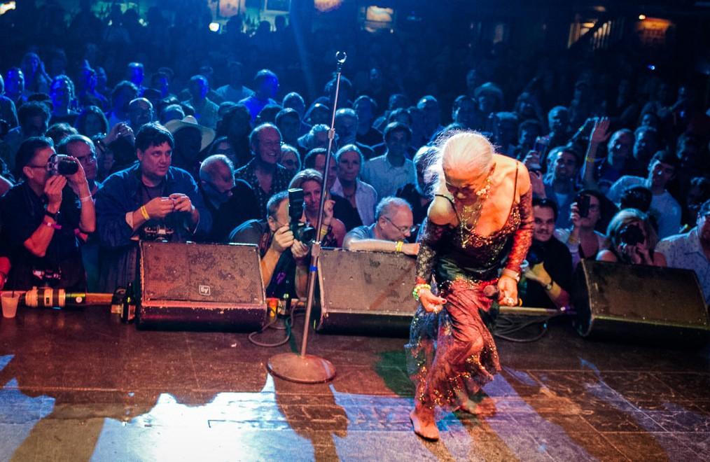 Sugar Pie DeSanto onstage in the 2010s