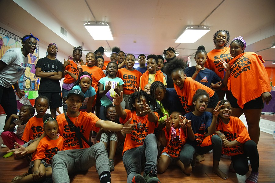 At Empiire's dance studio on July 26 for the last day of the Circle Up camp