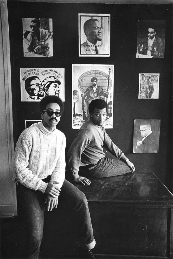 Hampton (right) and Bobby Rush in 1969