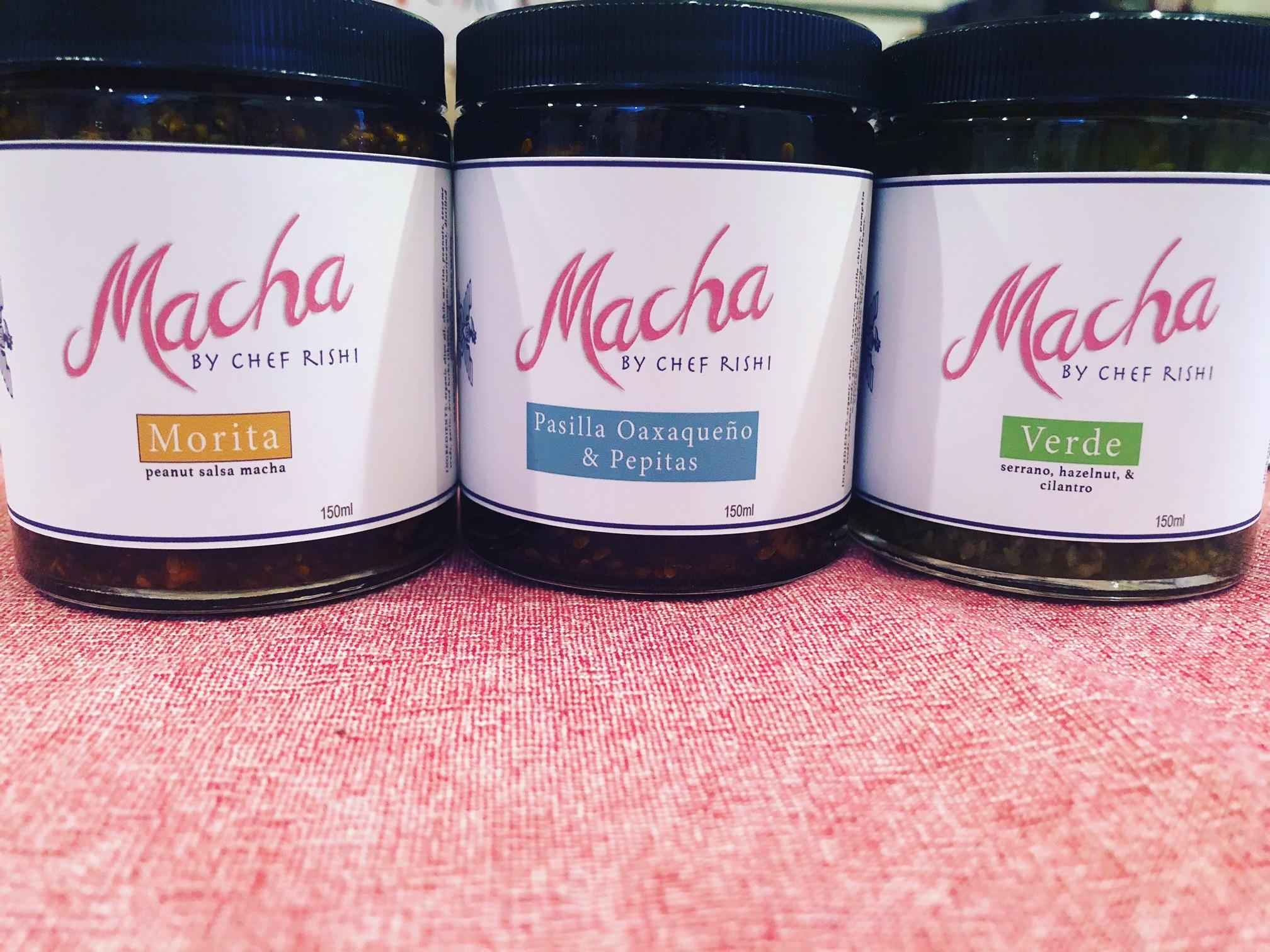 Salsas macha by Chef Rishi