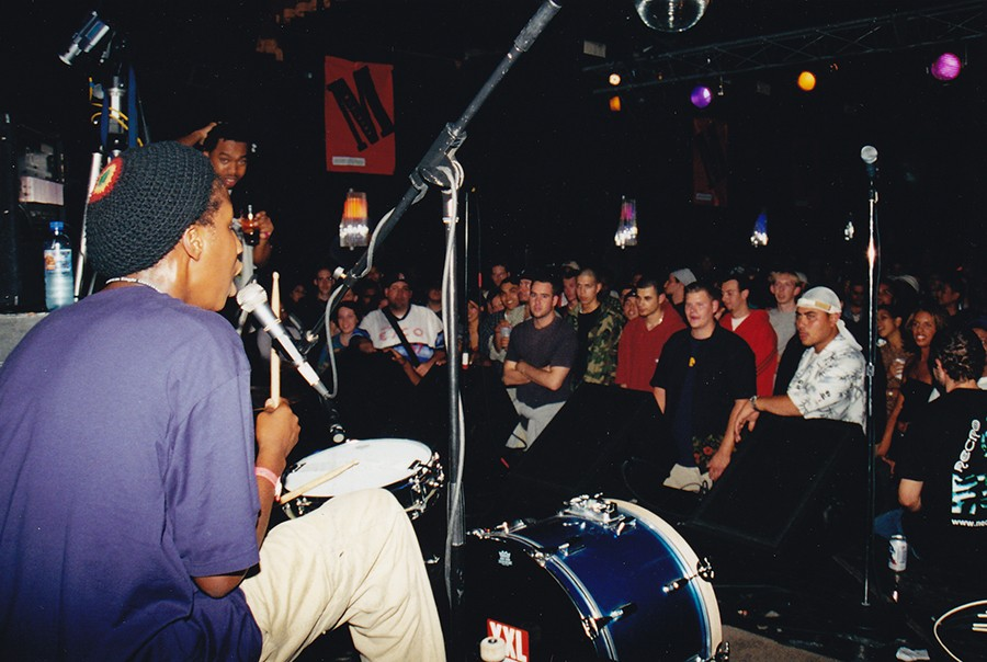 Iomos Marad (on drums) and Blue Groove host Dirty MF at Double Door