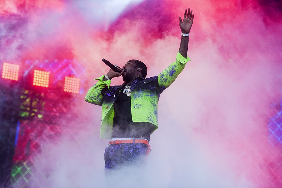 Meek Mill had more than just his Lollapalooza set to celebrate.