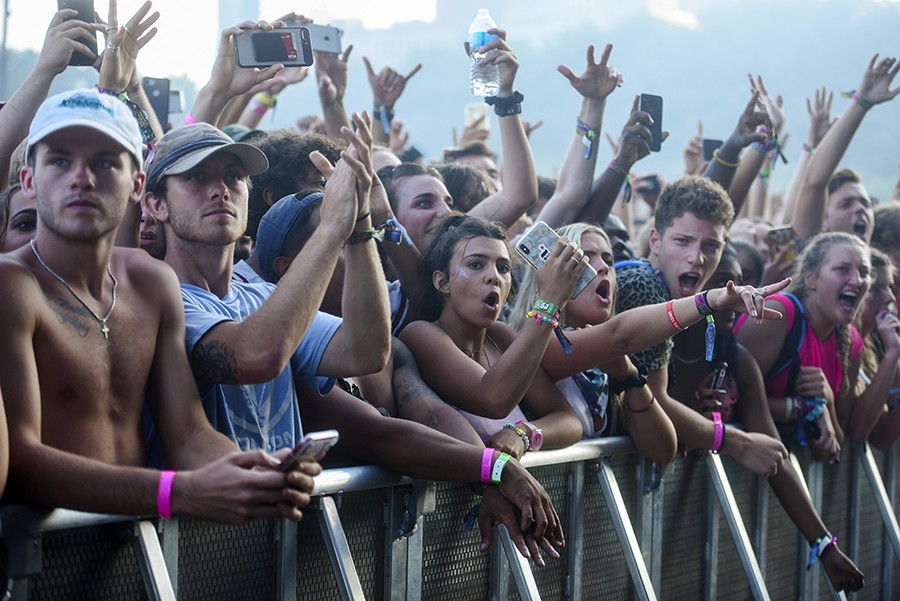 The front row of the Meek Mill crowd