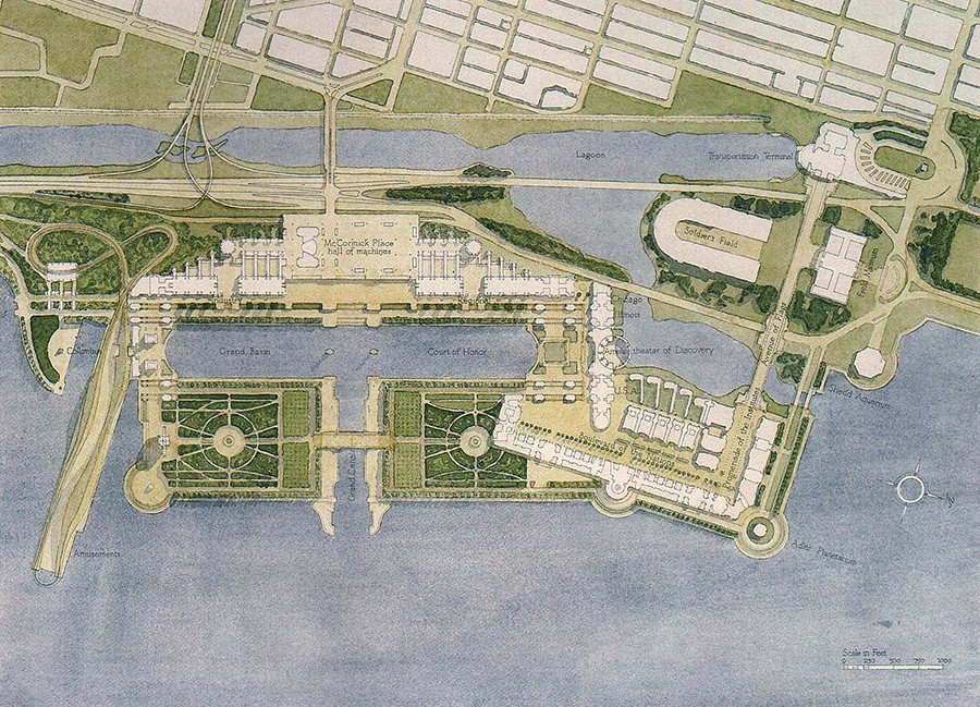"""Stuart Cohen and Anders Nereim, """"Project for the 1992 Chicago World's Fair"""" (1984)"""