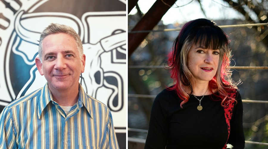 """Rob Miller (left) and Nan Warshaw helped found Bloodshot Records in 1993, but since 2019 they've been going through what Warshaw calls a """"business divorce""""—and it hasn't been an amicable one."""