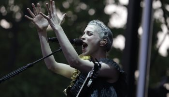 St. Vincent, shown here during her 2014 Pitchfork appearance, headlines the festival's second night.