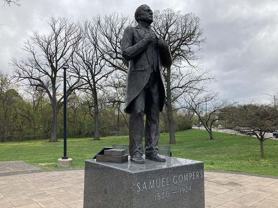 Statue of Samuel Gompers in his eponymous park