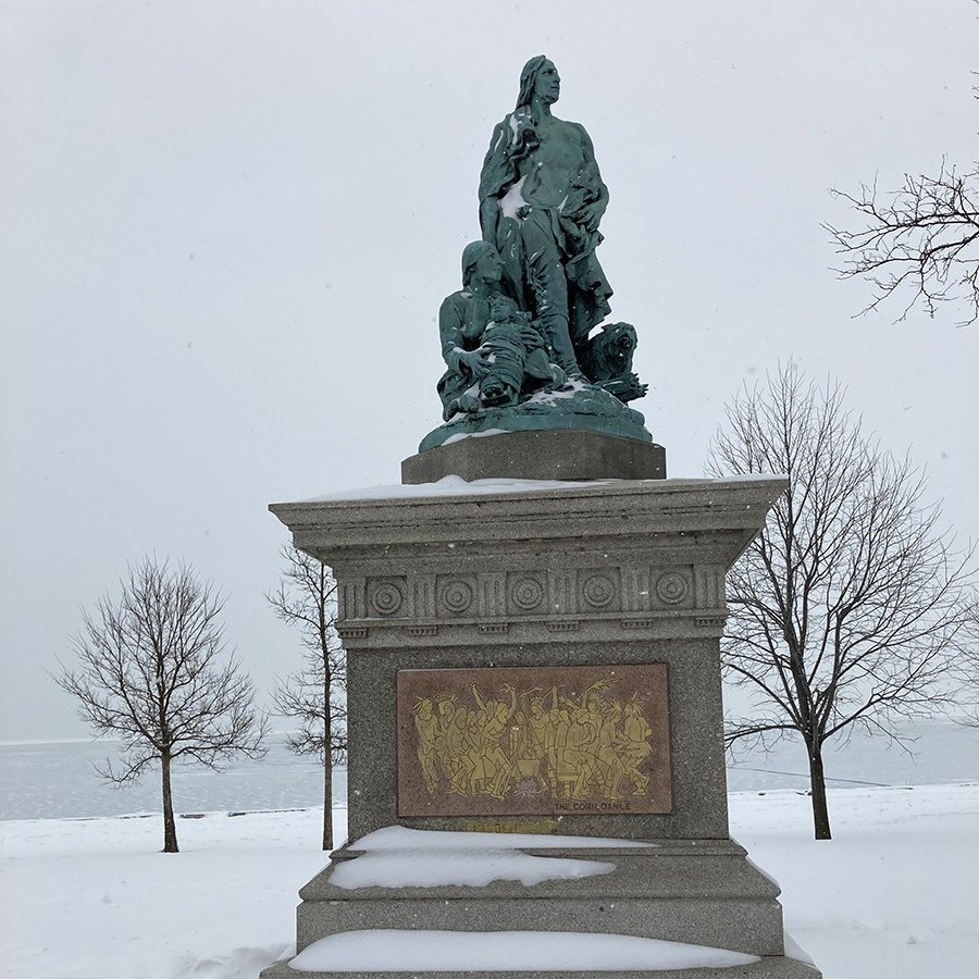 The Alarm by John J. Boyle, located near the Diversey Harbor bridge, has been identified as potentially problematic by the Chicago Monuments Project.