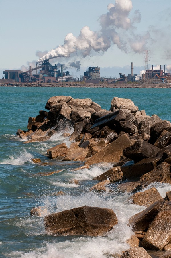 U.S. Steel Plant as viewed from Whiting, Indiana