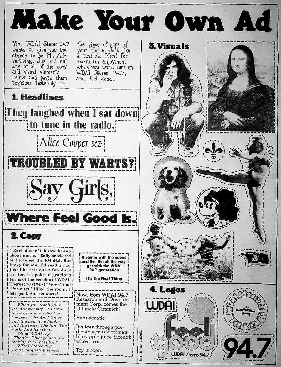 This whimsical full-page WDAI ad appeared in the issue of November 12, 1971.