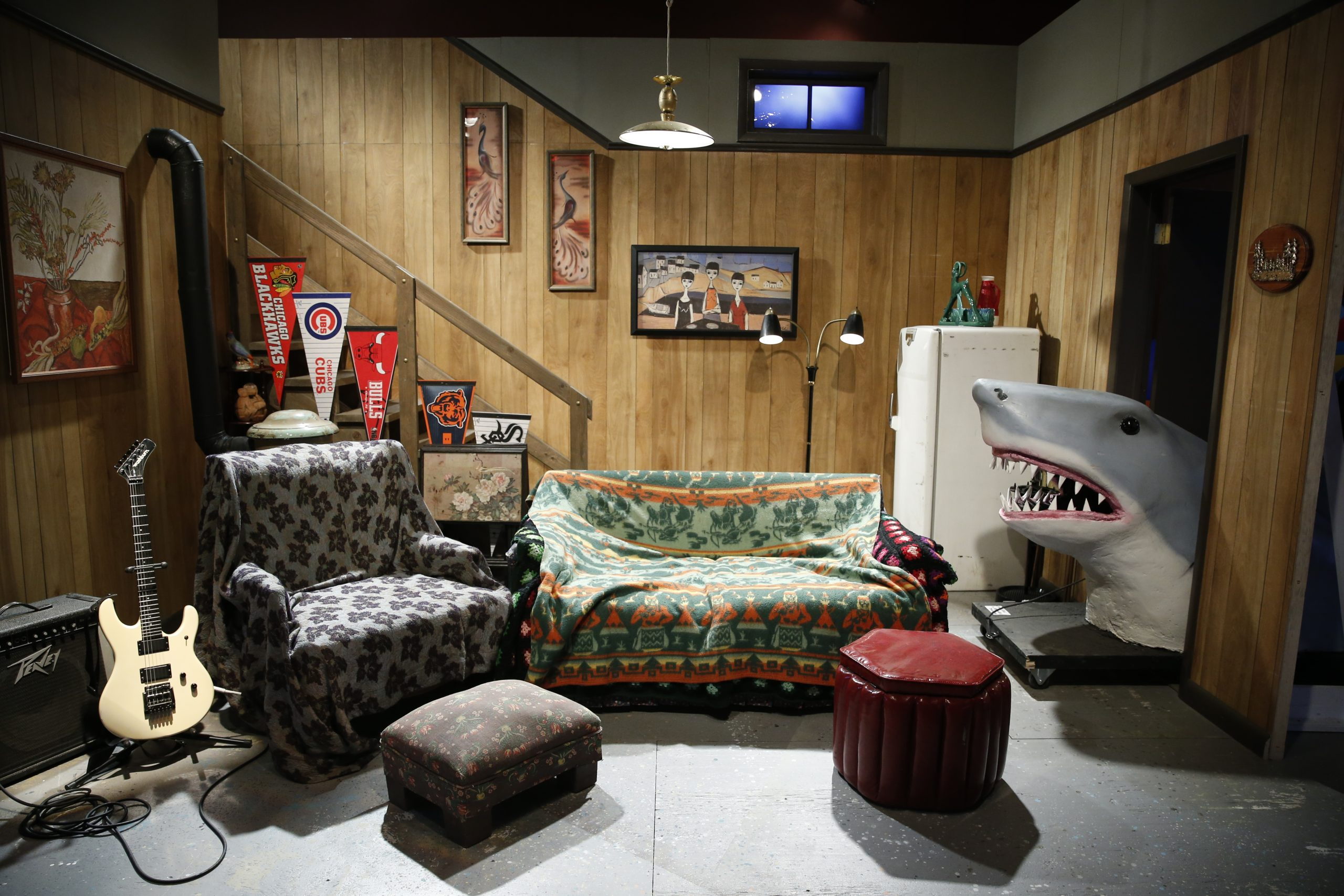 The set of <i>Wayne's World</i> and other favorite <i>SNL</i> sketches are on display at the Museum of Broadcast Communications.