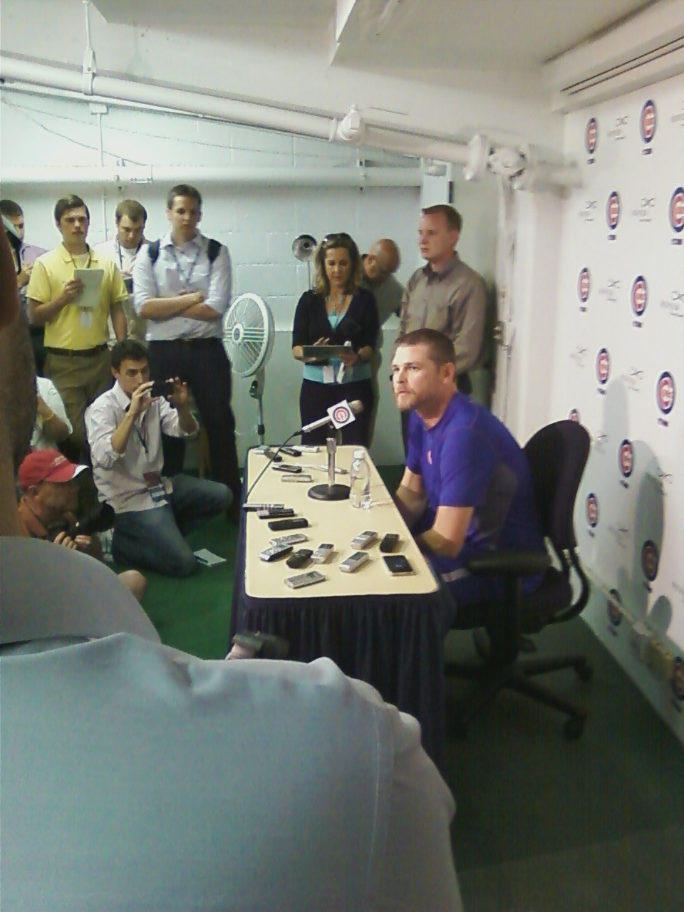 Kerry Wood discusses his retirement with the media after Friday's game.