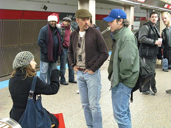 A shoot with Kelly Macdonald and Michael Keaton