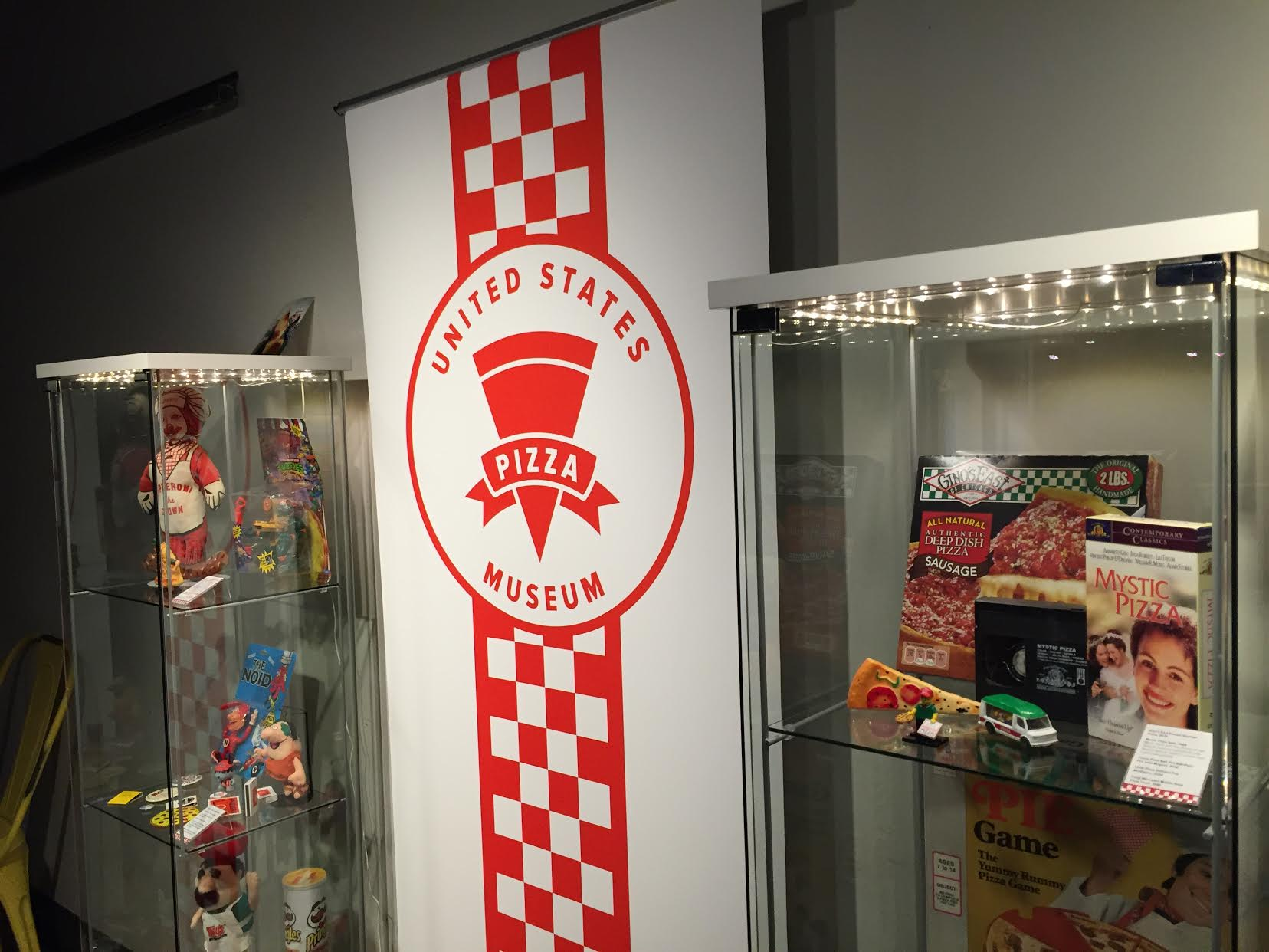 The U.S. Pizza Museum brought a pop-up exhibit. No preheating required.