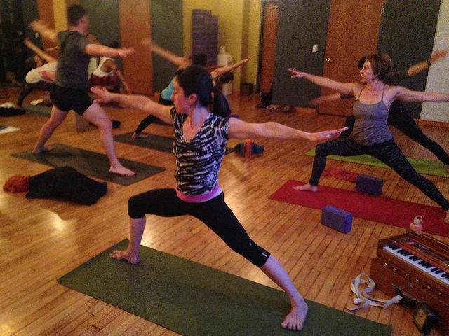 "Sara Strother posing during ""Living Loving Yoga"""