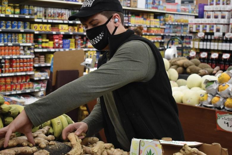 Devon Market customer shopping