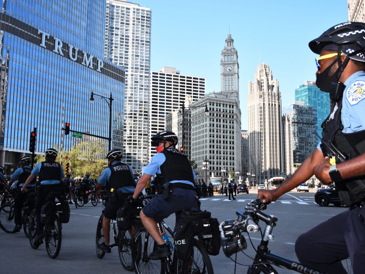 Chicago police at Trump Tower; John Catanzara is head of the FOP