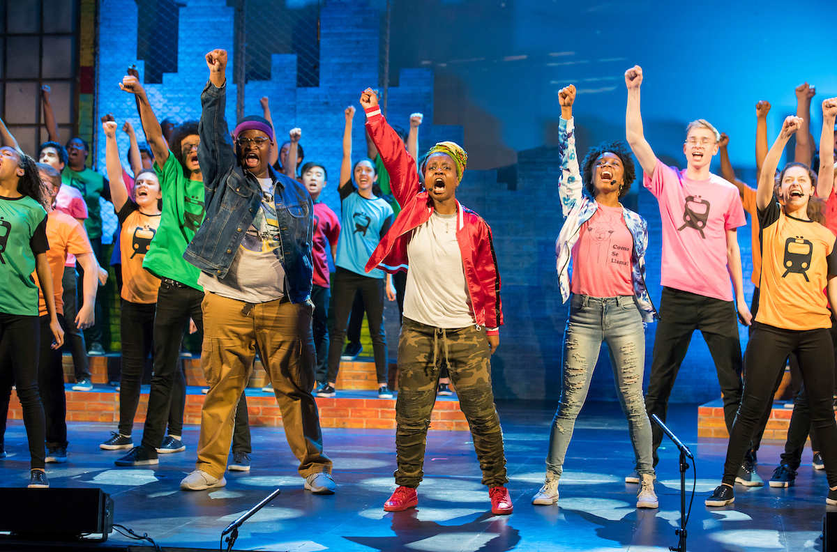 A 2018 dress rehearsal for the stage production of Long Way Home by the Chicago Children's Choir