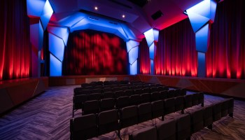 The interior of the new Music Box theater at Ravinia Festival