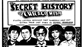 Illustration and header for the Secret History of Chicago Music on new-wave band the ODD