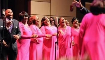 Members of the Tommies Reunion Choir sing gospel