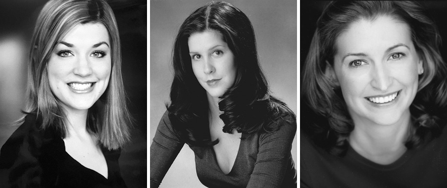 Head shots of Kim, Somer Benson, and Sara—which they shared with the <i>Reader</i> and which the paper has published with their permission—show the trio of actresses when each woman first met Darrell Cox.
