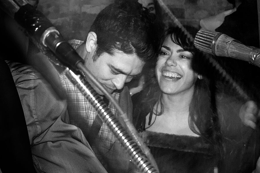 Alejandro Morales and Nicole Miller of Piss Piss Piss Moan Moan Moan at Bbigg Fforeverr on New Year's Eve 2012