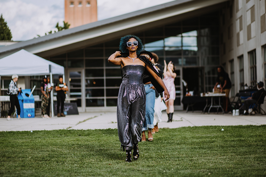 Models walk in the Feast fashion show.