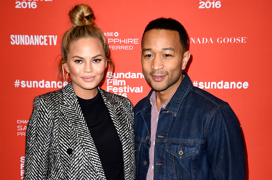 Chrissy Teigen and John Legend at the <i>Southside With You premiere</i> during the 2016 Sundance Film Festival