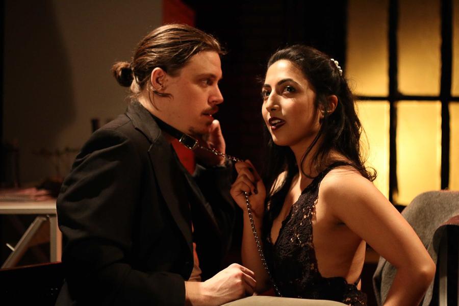 Zach Livingston and Arti Ishak in Circle Theatre's <i>Venus in Fur</i>