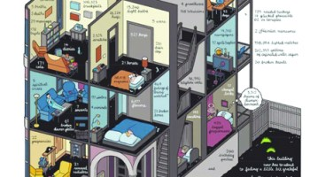A page from Chris Ware's multimedia project, <i>Building Stories</i>