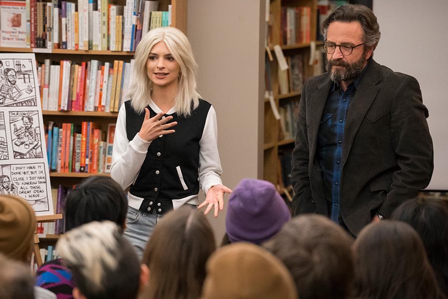 Emily Ratajkowski and Marc Maron discuss autobiographical art in City Lit Books.