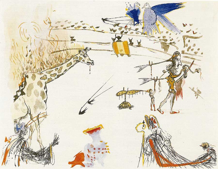 Salvador Dalí, <i>Girafe en Feu</i>