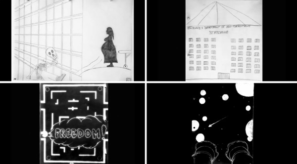 Stills from the Stateville inmates' animations