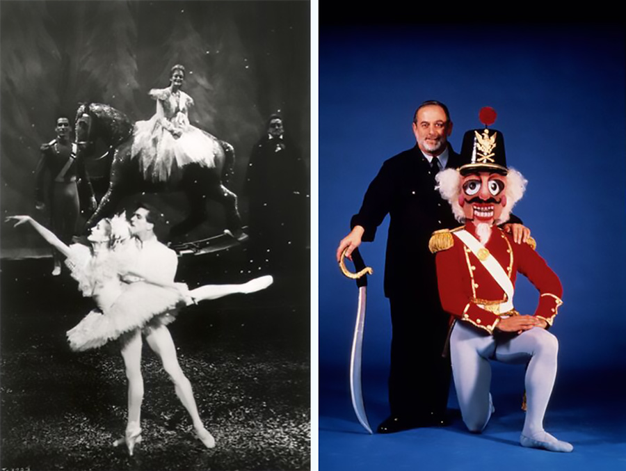 Ashley Wheater, now Joffrey Ballet's artistic director, as the Snow King in the 1987 <i>Nutcracker</i> production; Robert Joffrey in a publicity photo for the show's '87 run