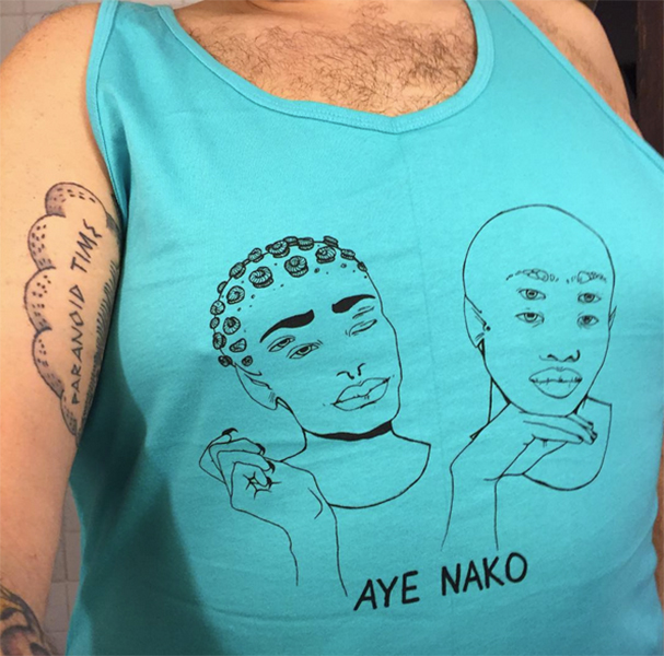 "Aye Nako's ""gay aliens"" tank top"