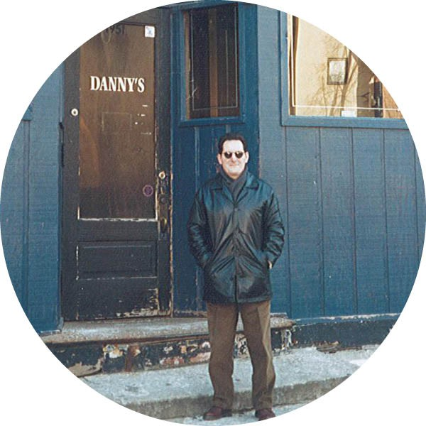 The tavern's namesake, Danny Cimaglio, outside the bar in 2010