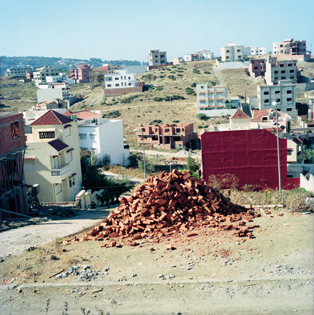 Briques (Bricks) is part of an exhibit of photographs of Morocco by Yto Barrada.