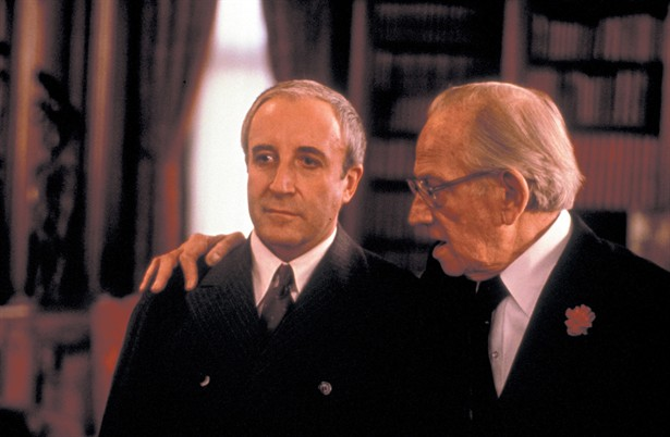 Sellers and Melvyn Douglas in <i>Being There</i>