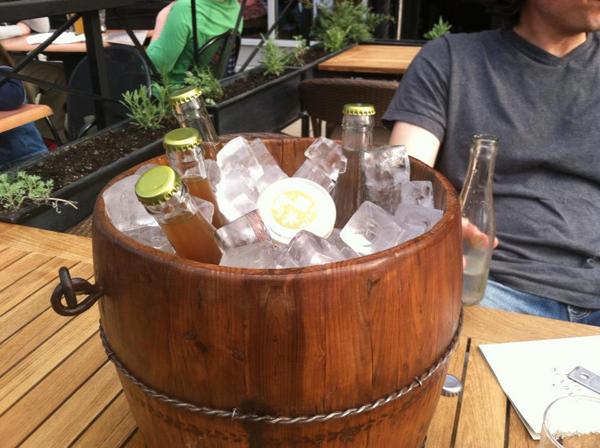 A barrel of Kikusui Funaguchis and Fernet and Colas