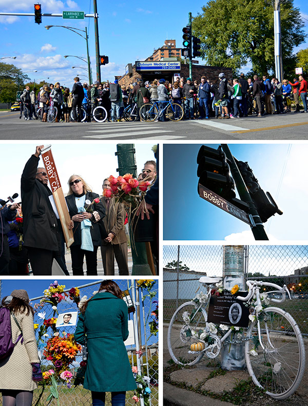 On October 25 a ceremony was held at the Clybourn-Larrabee intersection to designate it Honorary Bobby Cann Way. Alderman Walter Burnett Jr. unveiled the new street sign.