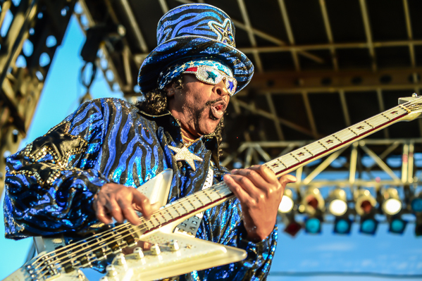 """Bootsy Collins is definitely in the running for """"best dressed at Riot Fest."""" Hell, he's in the running wherever he goes."""