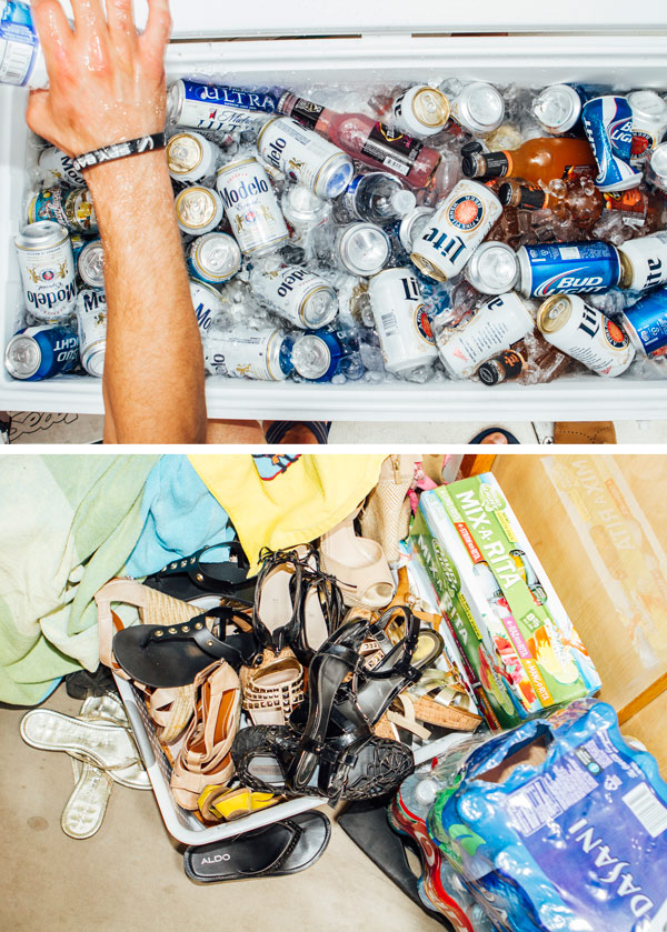 Cooler o' booze and bin o' shoes aboard <i>Verry Necessary</i>