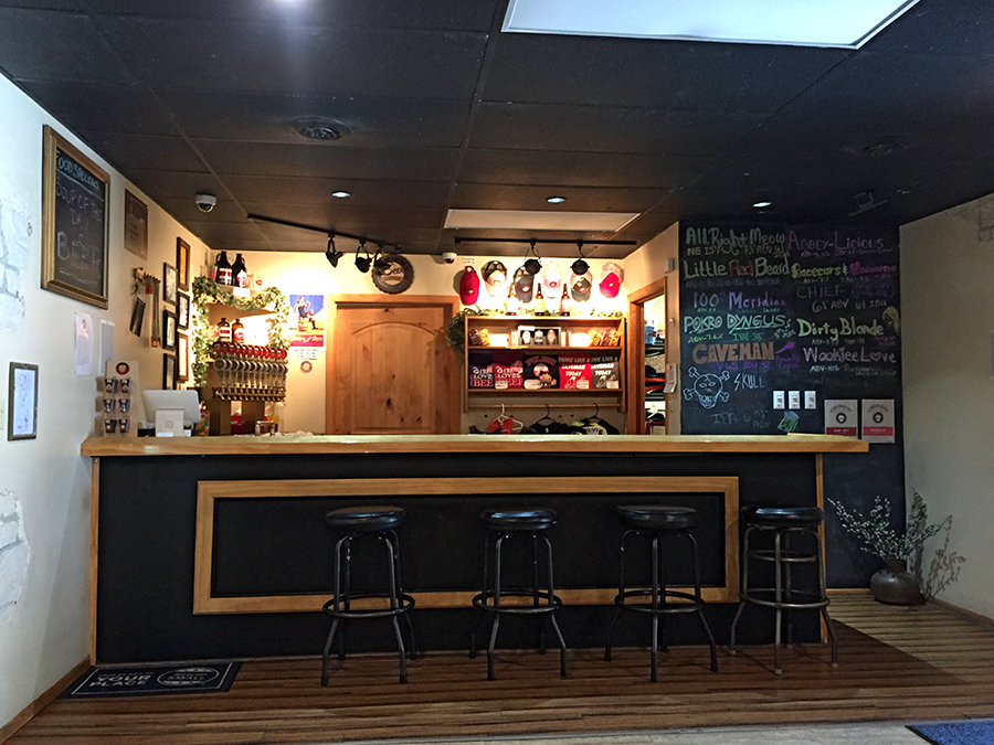 The interior of Pokro Brewing Company